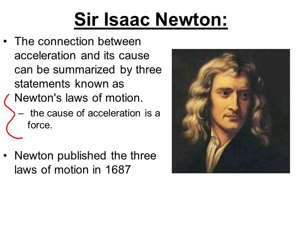 A discussion of icaac newtons laws and its importance
