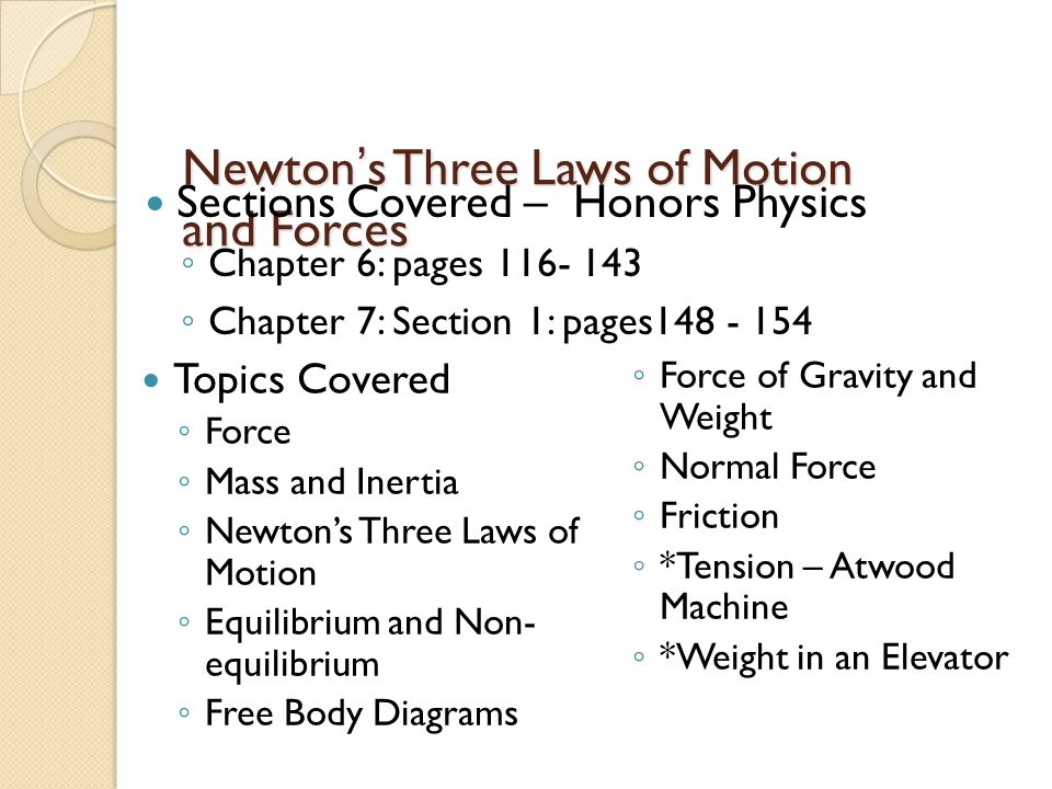 Newton's Three Laws of Motion and Forces - ppt download