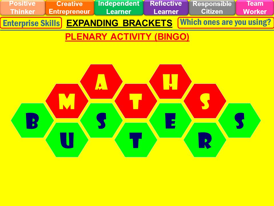 Creative Entrepreneur PLENARY ACTIVITY (BINGO)