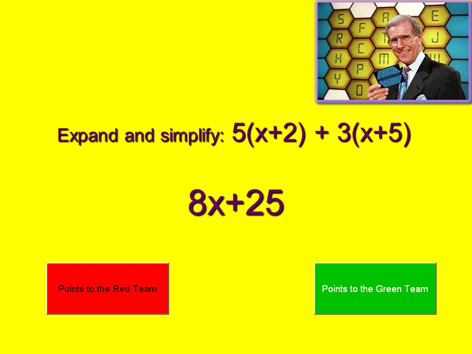 Expand and simplify: 5(x+2) + 3(x+5)