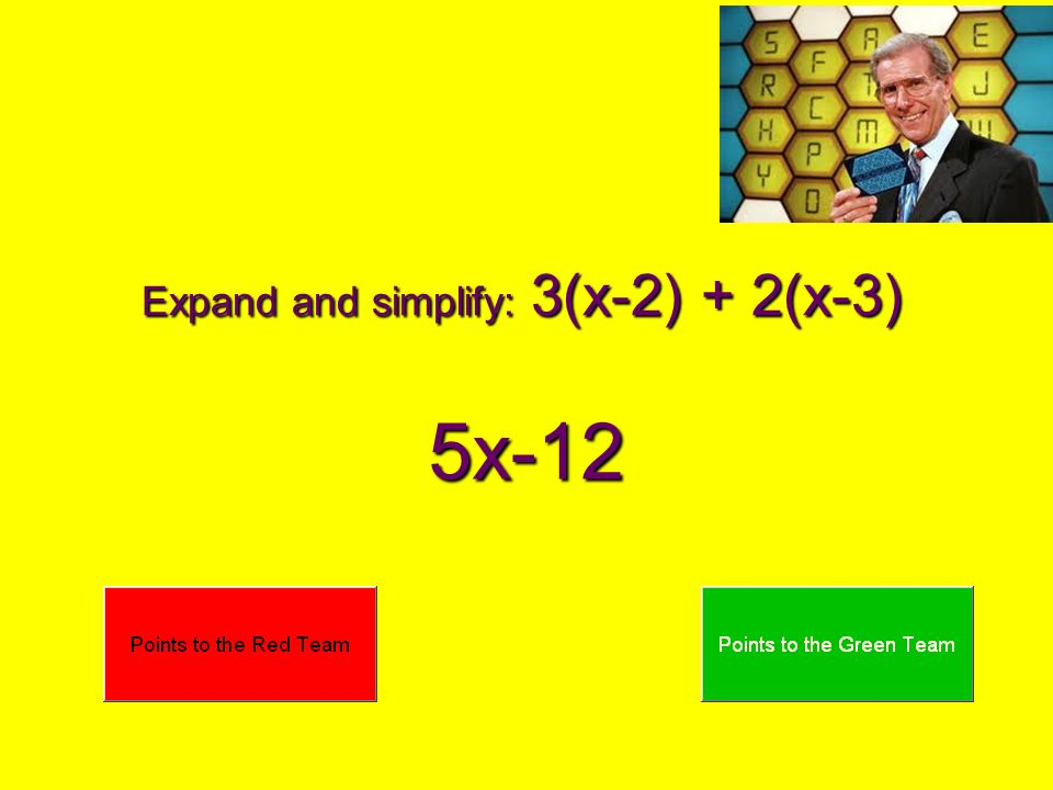 Expand and simplify: 3(x-2) + 2(x-3)