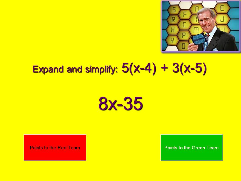 Expand and simplify: 5(x-4) + 3(x-5)