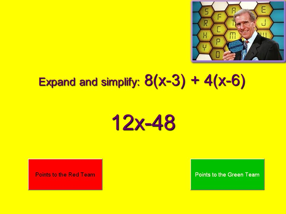 Expand and simplify: 8(x-3) + 4(x-6)