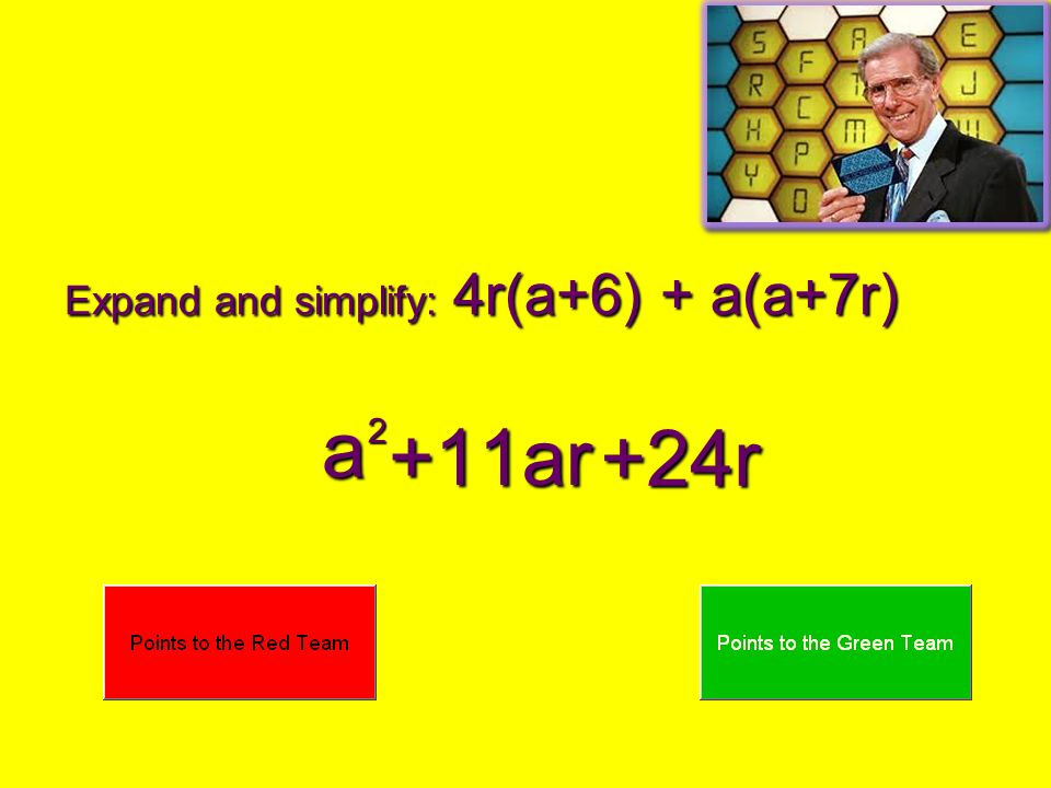 Expand and simplify: 4r(a+6) + a(a+7r)