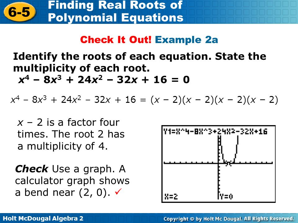 Polynomial roots calculator