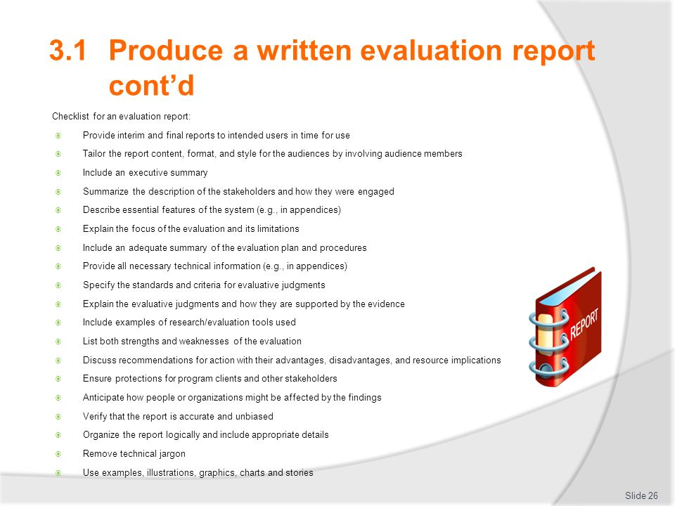 how to make a competitive evaluation report