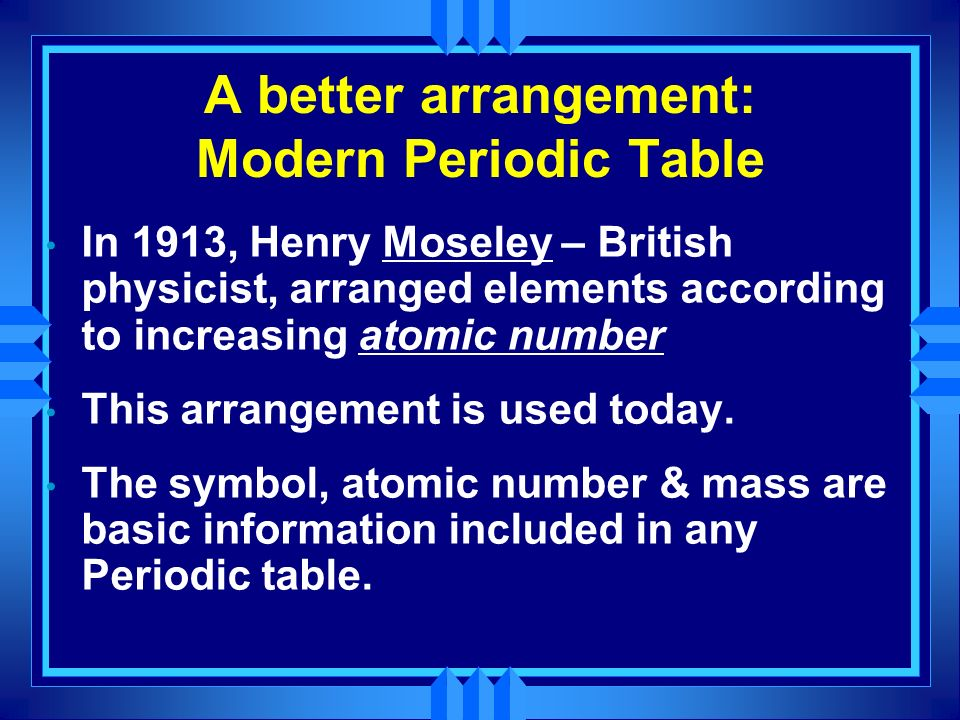 The periodic table science ppt video online download a better arrangement modern periodic table urtaz Image collections