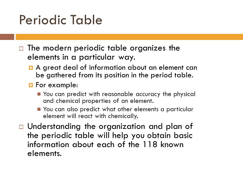 The modern periodic table organization ppt download 3 periodic urtaz Gallery