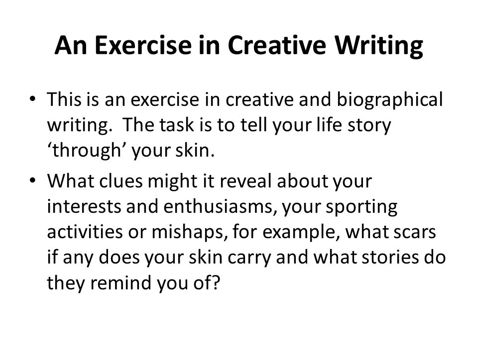 imagery exercises creative writing These visualization exercises is a complete training program for improving visualization and creativity witness the power of the creative visualization.