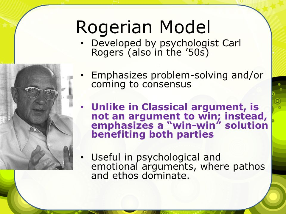 rogerian theory essay Person-centered therapy (pct), which is also known as client-centered, non-directive, or rogerian therapy, is an approach to counseling and psychotherapy that places.