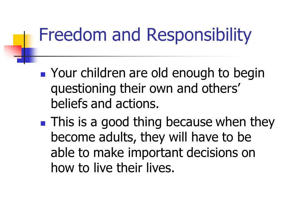 freedom and responsibility Freedom equals responsibility quotes - 1 i am free because i know that i alone am morally responsible for everything i do i am free, no matter what rules surround me.