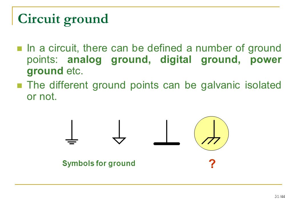 Analog Ground Symbol Image Collections Free Symbol