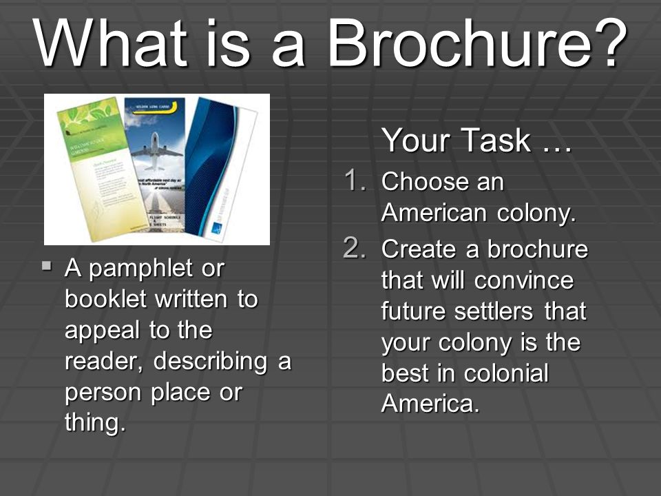 what is a brochure