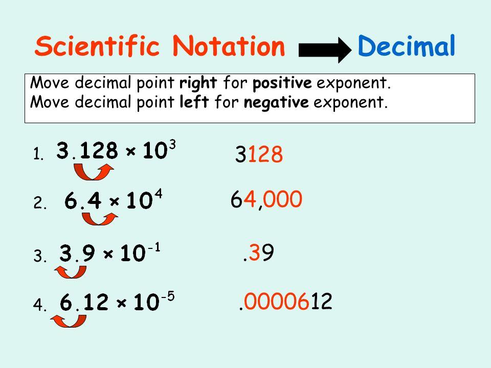 Scientific Notation Decimal