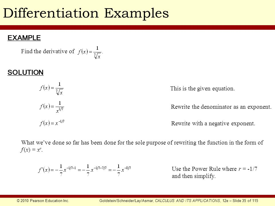 Chapter 1 The Derivative Ppt Download