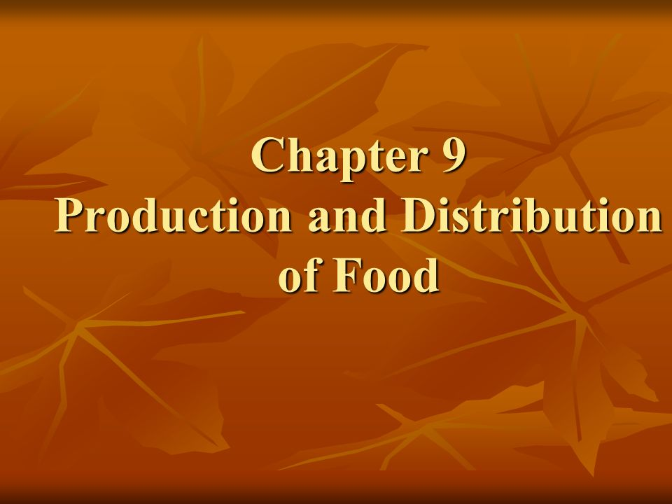 major patterns of food production and distribution Canada in a changing climate: sector perspectives food production is a major economic driver in canada distribution of agricultur e and food processing.