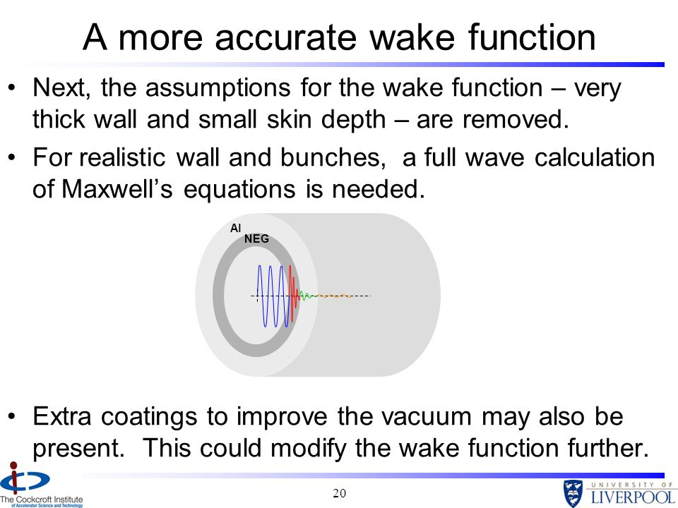 A more accurate wake function