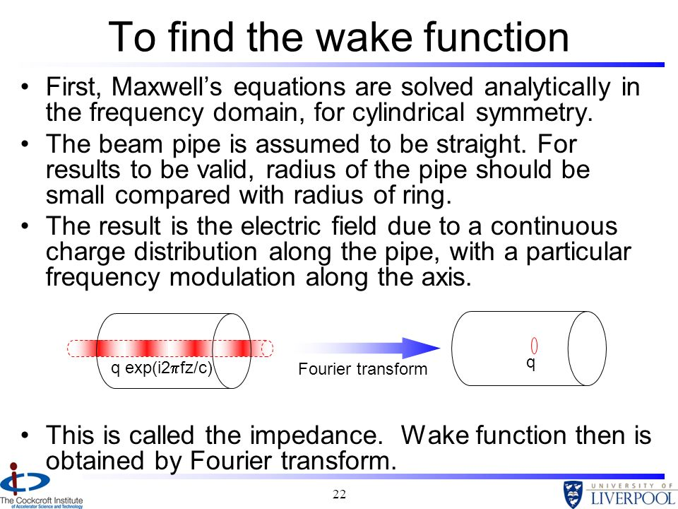 To find the wake function