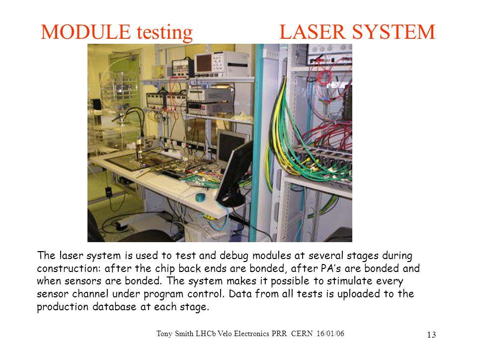Tony Smith LHCb Velo Electronics PRR CERN 16/01/06