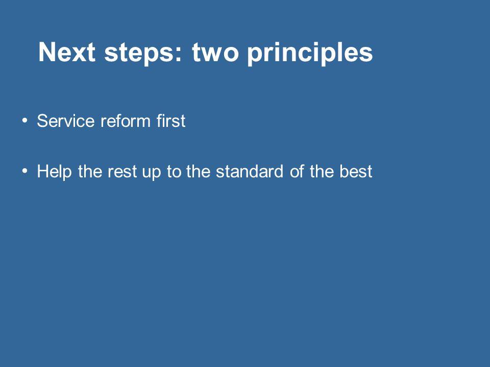 Next steps: two principles