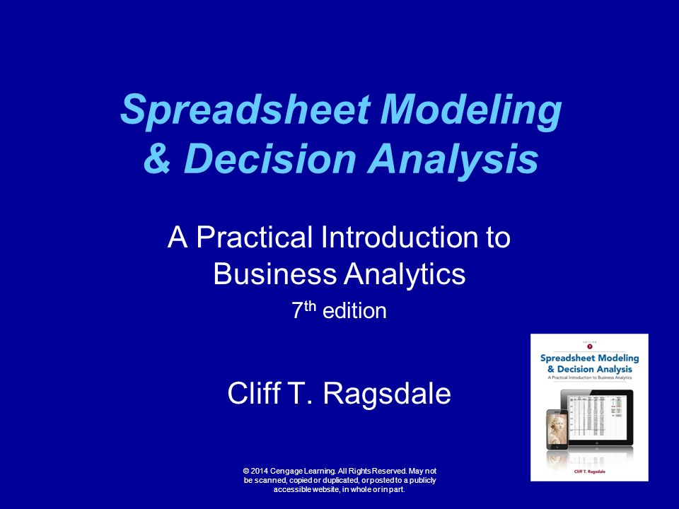 spreadsheet modeling and decision analysis Solutions manual for spreadsheet modeling & decision analysis a practical introduction to management science 6th edition by cliff ragsdale.
