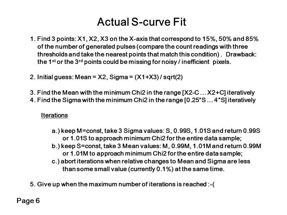 Actual S-curve Fit Page 6