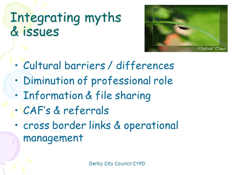 Integrating myths & issues