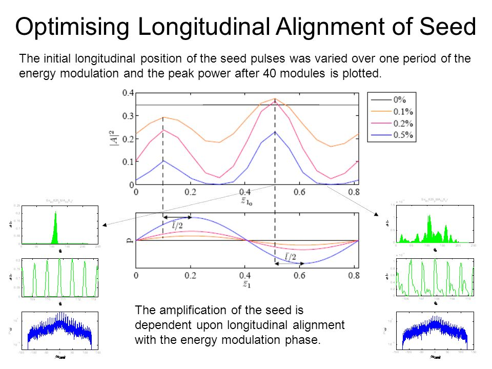 Optimising Longitudinal Alignment of Seed