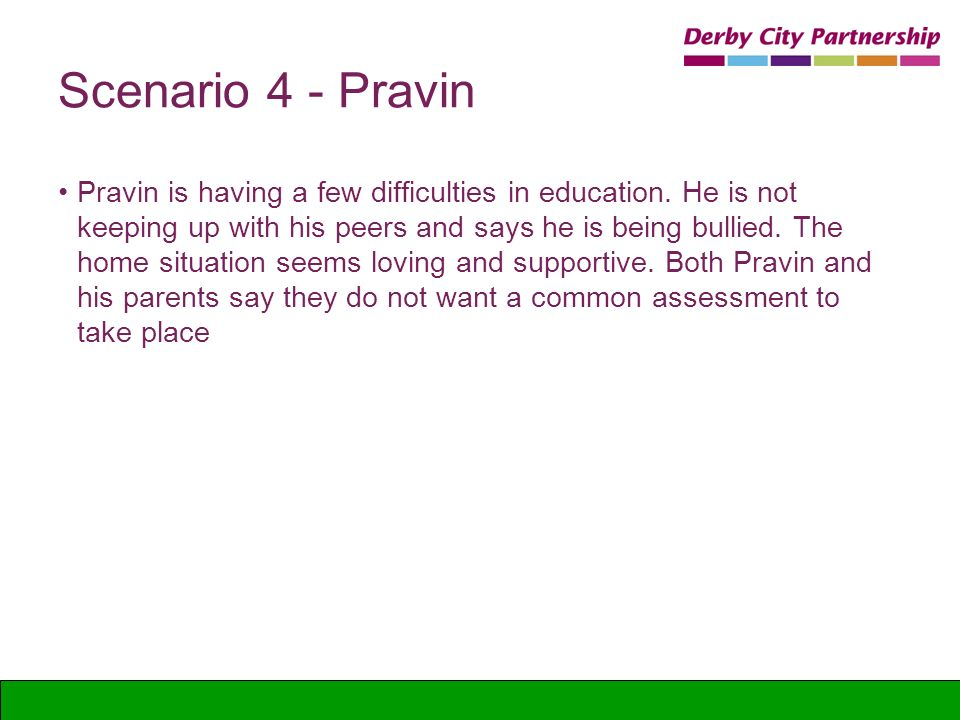 Scenario 4 - Pravin