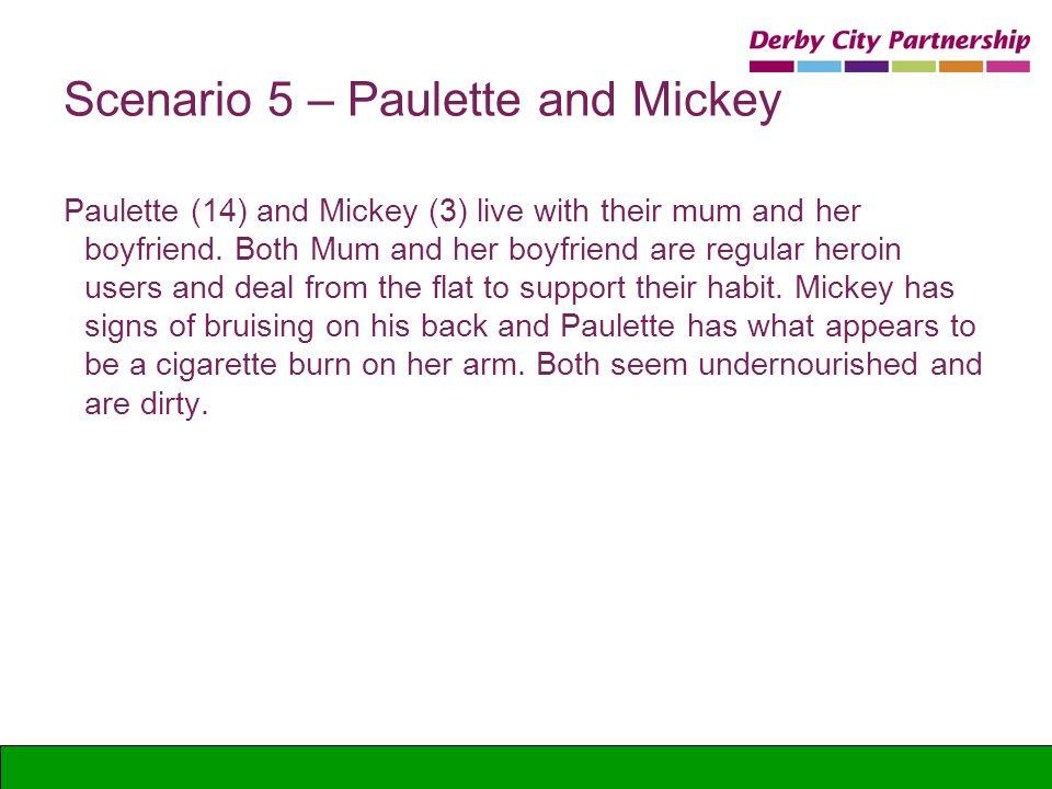 Scenario 5 – Paulette and Mickey
