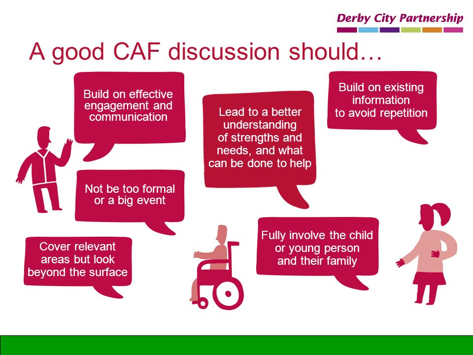 A good CAF discussion should…