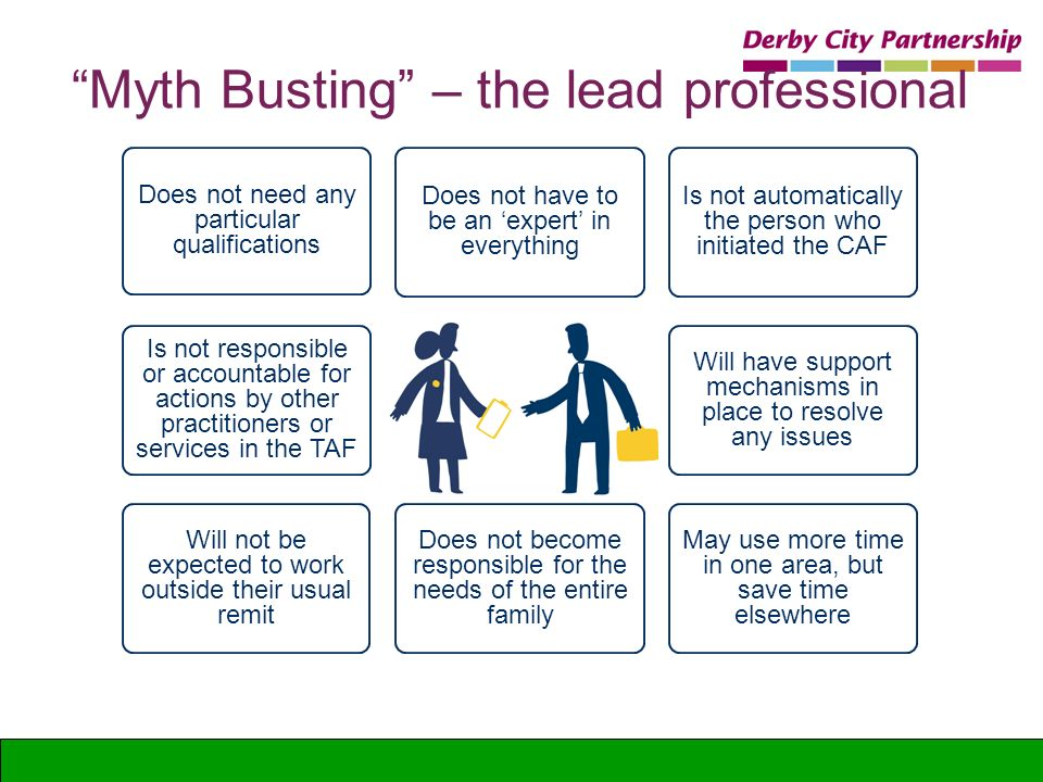 Myth Busting – the lead professional