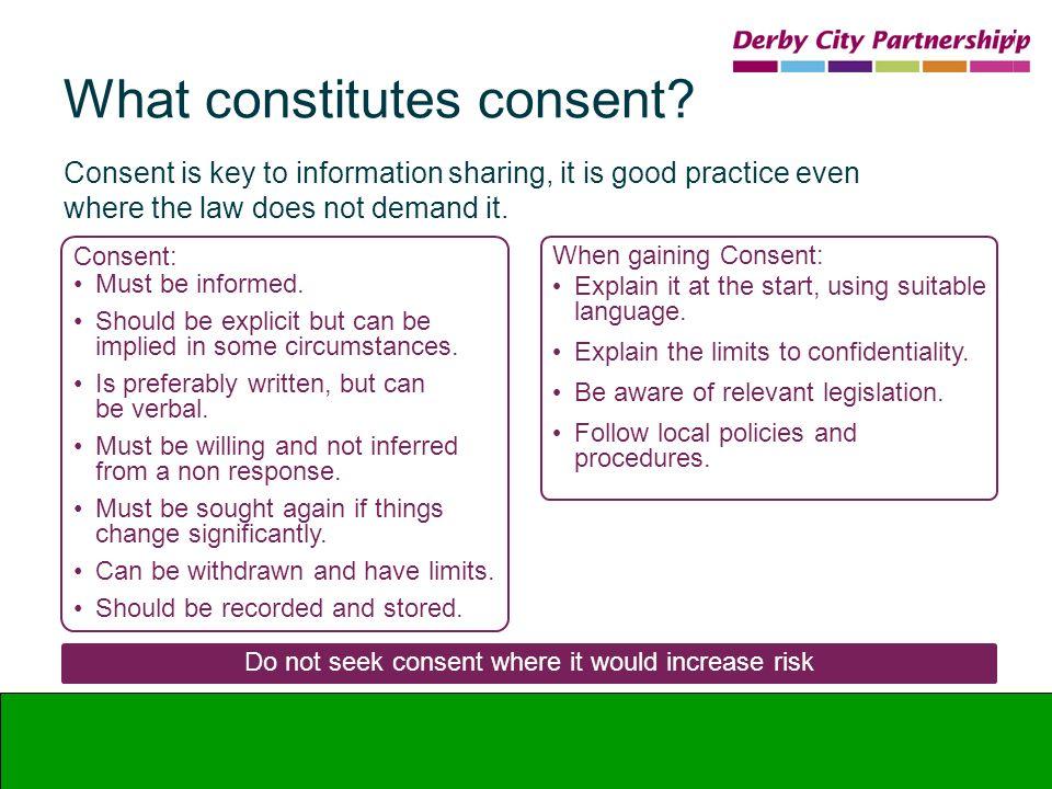 What constitutes consent