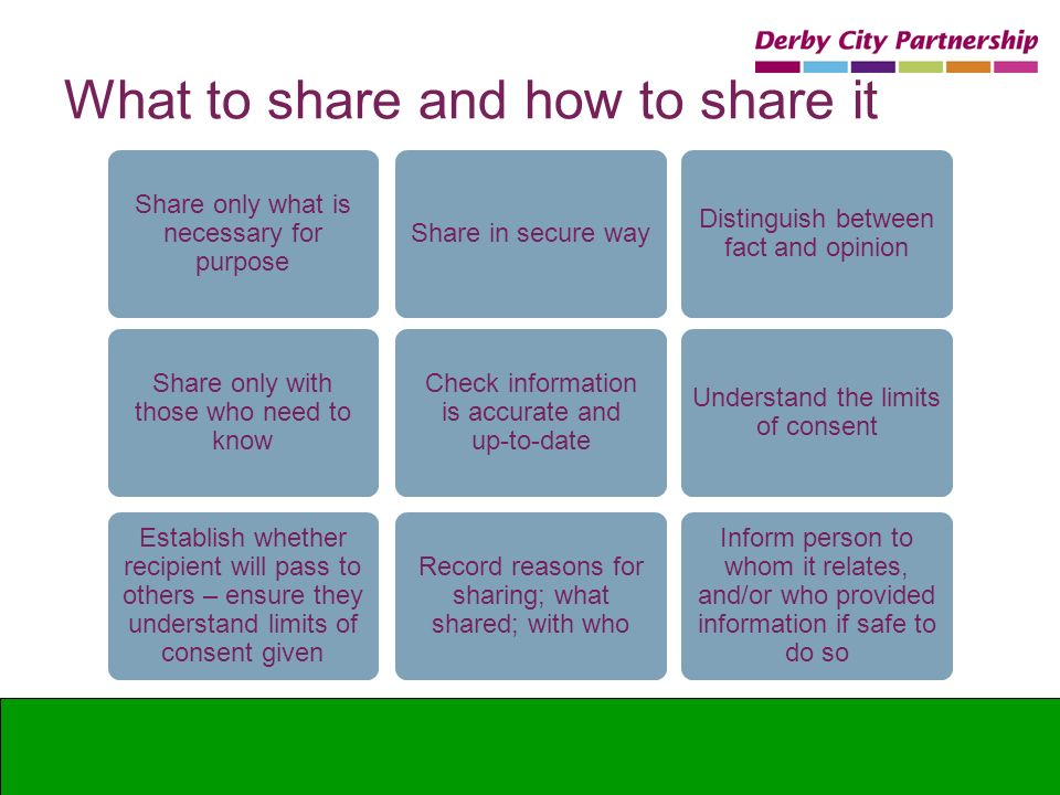 What to share and how to share it