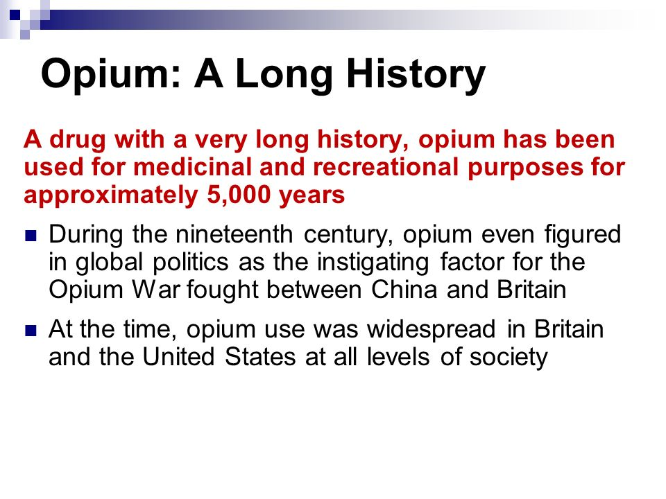 a history of the opium war between the great britain and china The opium wars between britain and china were a opium has had a long history in china were at war, a great deal of trade took place between the.
