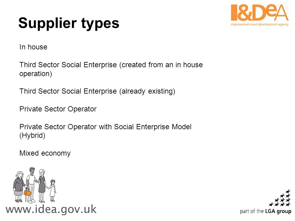 Supplier types In house