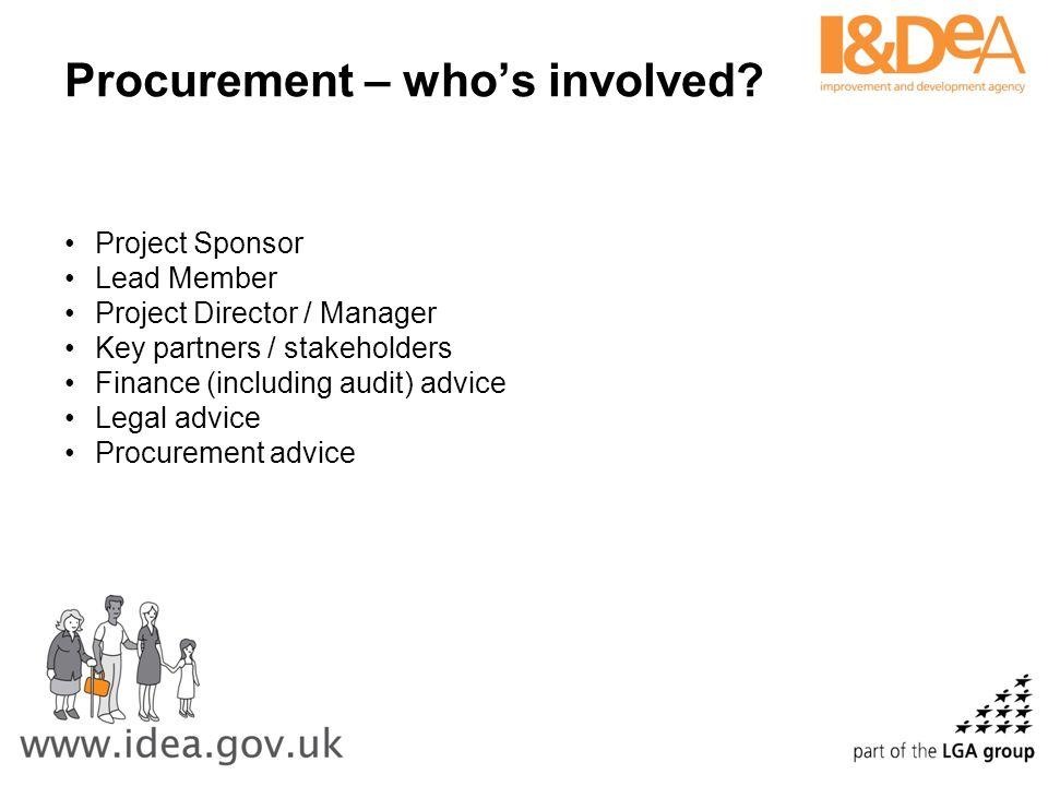Procurement – who's involved