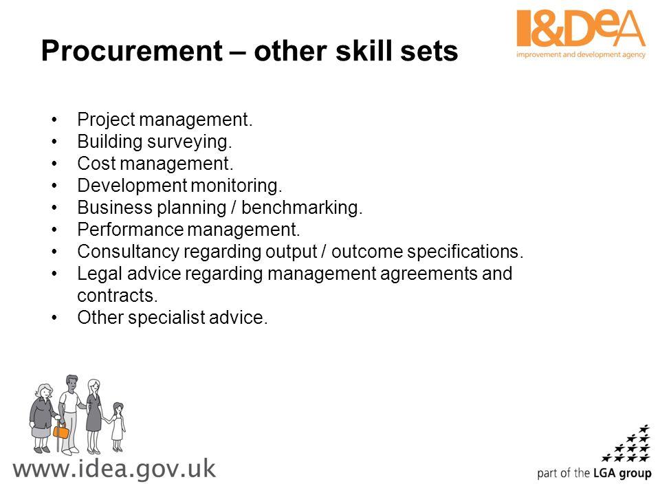 Procurement – other skill sets