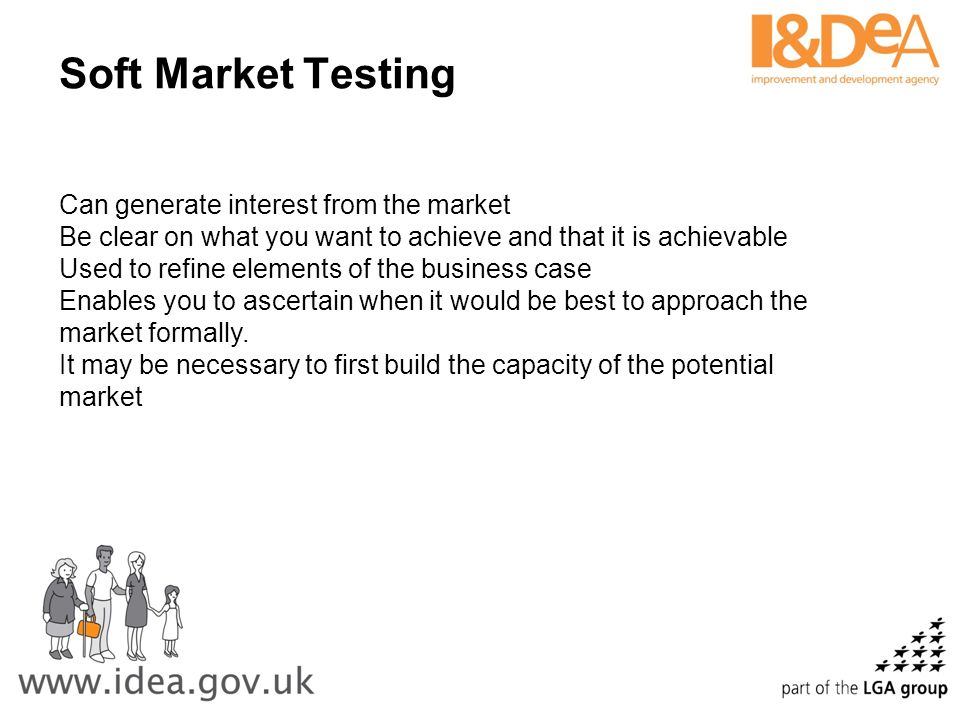 Soft Market Testing Can generate interest from the market