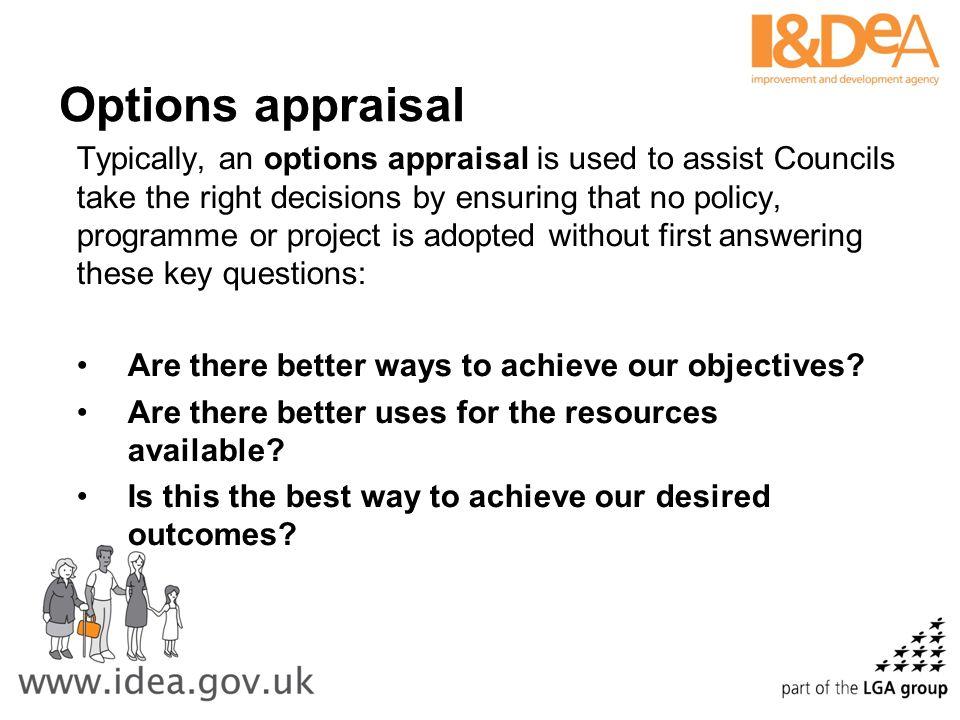 Options appraisal