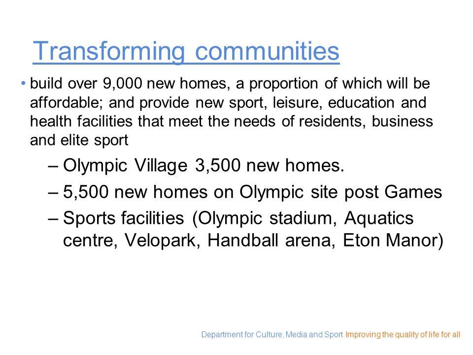 Transforming communities