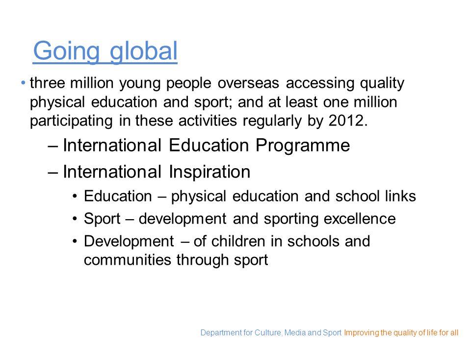 Going global International Education Programme