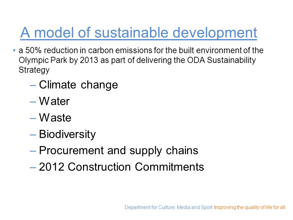 A model of sustainable development