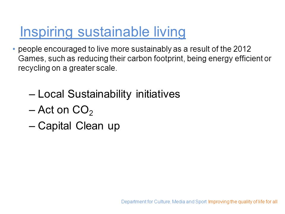 Inspiring sustainable living