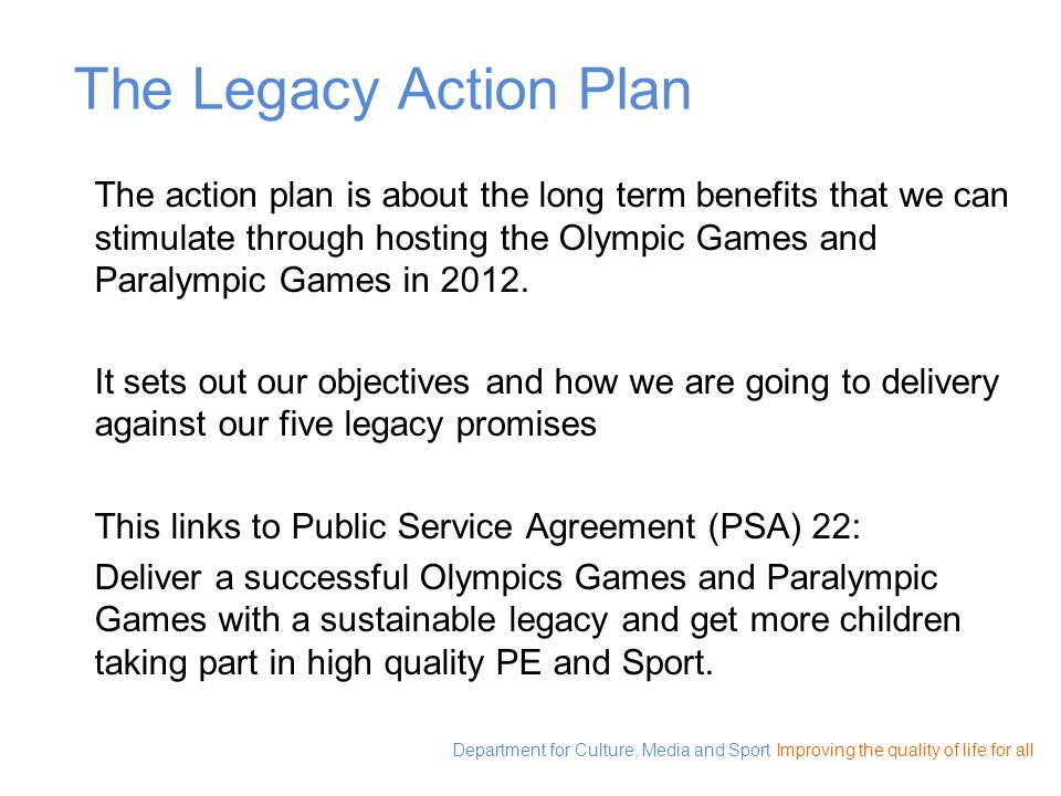 The Legacy Action Plan