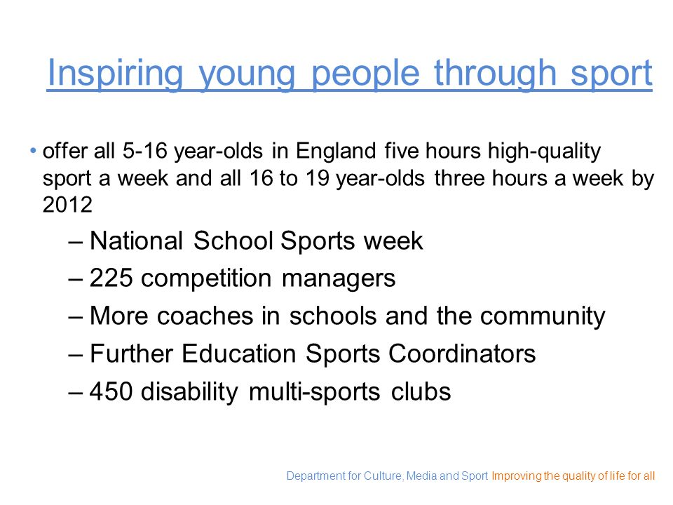 Inspiring young people through sport