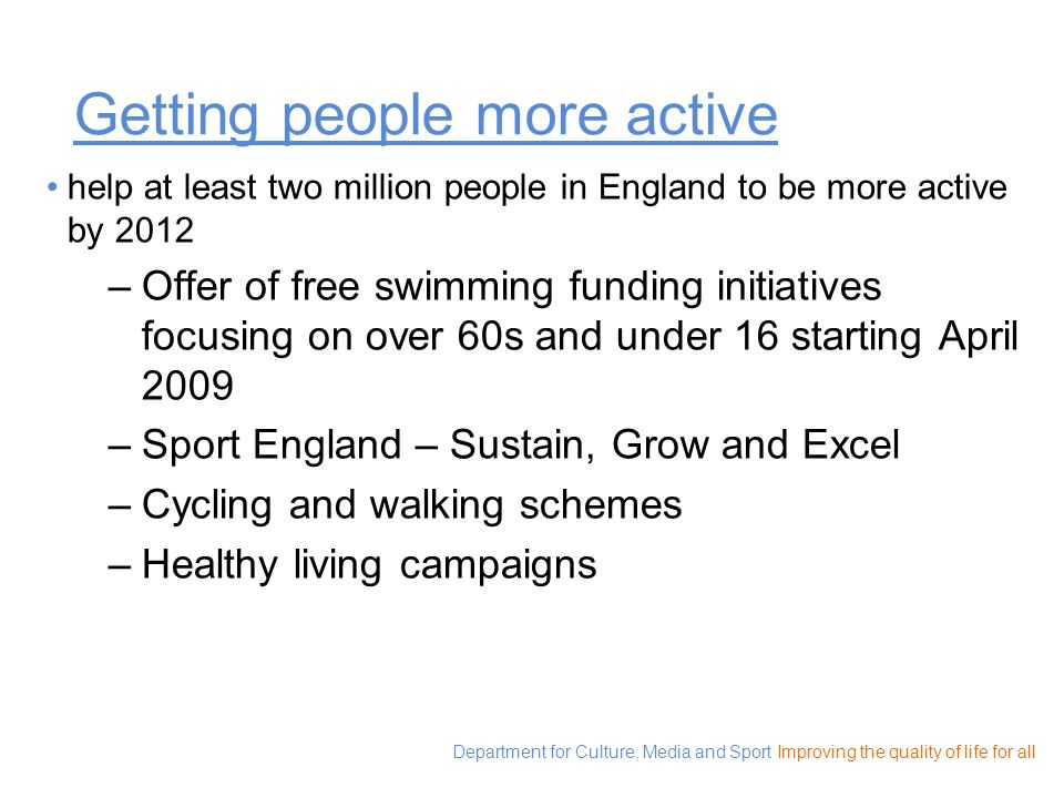 Getting people more active