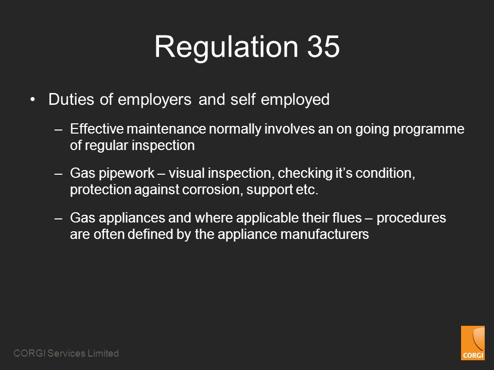 Regulation 35 Duties of employers and self employed
