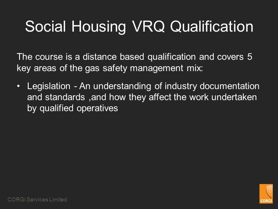 Social Housing VRQ Qualification