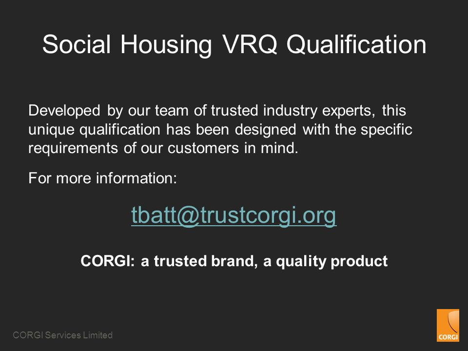 Social Housing VRQ Qualification